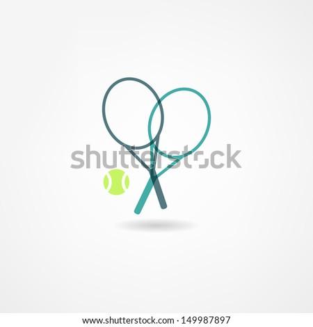 tennis icon - stock vector