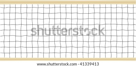 Tennis or Volleyball Net Vector illustration.  PATTERN IS DESIGNED TO BE REPEATED HORIZONTALLY - stock vector