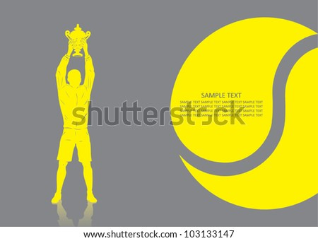 Tennis player background - vector illustration - stock vector