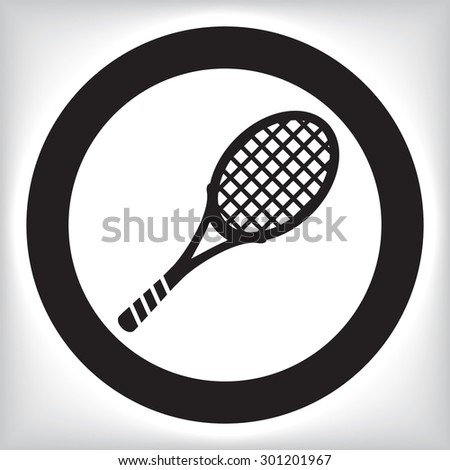 Tennis racket icon - stock vector