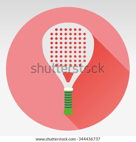 Tennis racket, isolated on white background - stock vector