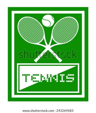 Tennis sport - stock vector