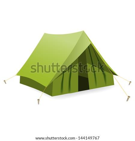 Tent. Vector illustration - stock vector