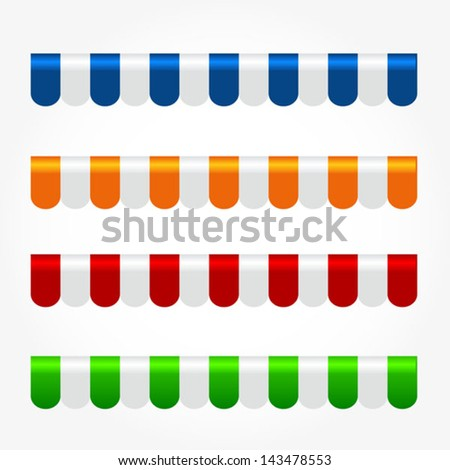 tents for shops - stock vector