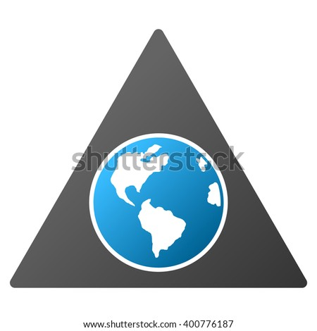 Terra Triangle vector toolbar icon for software design. Style is a gradient icon symbol on a white background. - stock vector