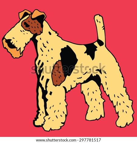 Terrier Dog - stock vector