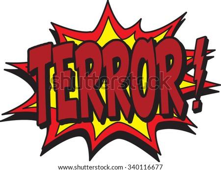terror - stock vector