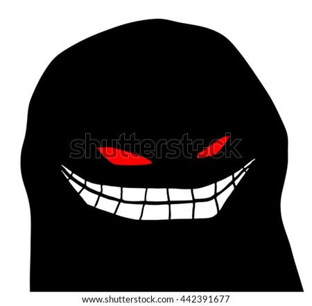 terror face - stock vector