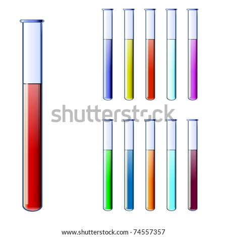 Test tubes - stock vector
