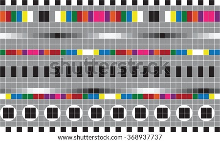 Test TV screen - stock vector