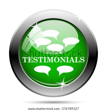 Testimonials icon. Internet button on white background. EPS10 vector.