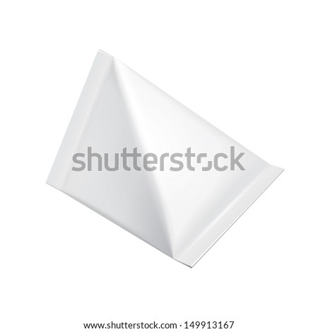 Tetrahedron Food Milk Carton Packages Blank White. Illustration Isolated On White Background. Vector EPS10  - stock vector