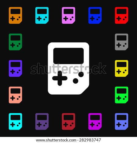 Tetris  icon sign. Lots of colorful symbols for your design. Vector illustration - stock vector