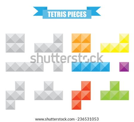 Tetris pieces - stock vector