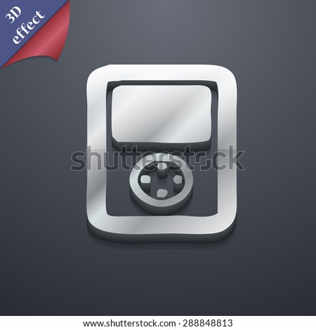 Tetris, video game console icon symbol. 3D style. Trendy, modern design with space for your text Vector illustration - stock vector
