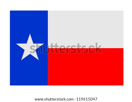 Texas Lone Star Flag - stock vector