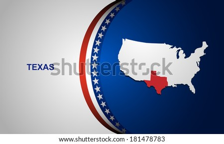 Texas map vector background - stock vector