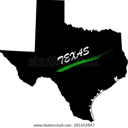 Texas map vector in black and white background, Texas map outlines in a new design - stock vector