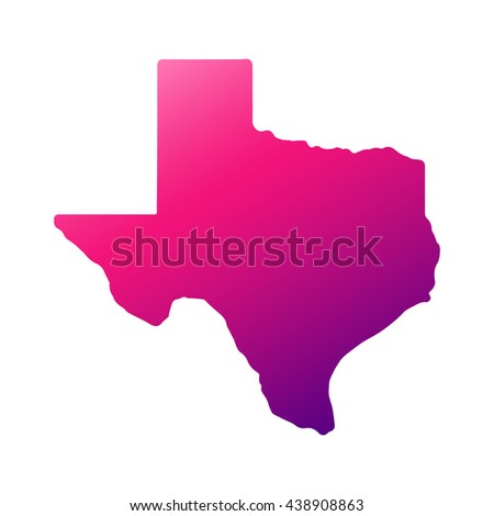 Texas state map with gradient - stock vector