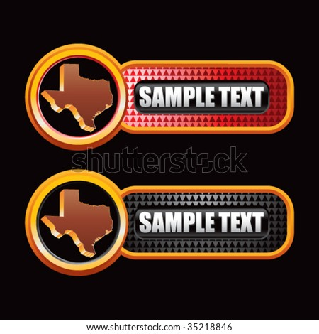 texas state on checkered tabs - stock vector