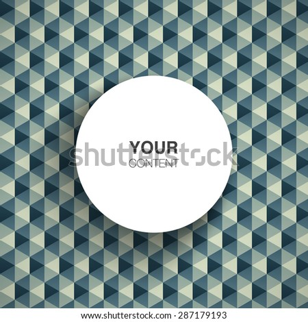 Text box design with shadow on abstract pattern background vector stock eps 10 illustration - stock vector
