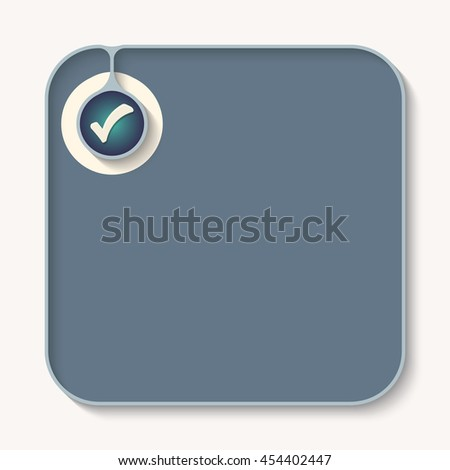 Text box for fill your text and check box - stock vector