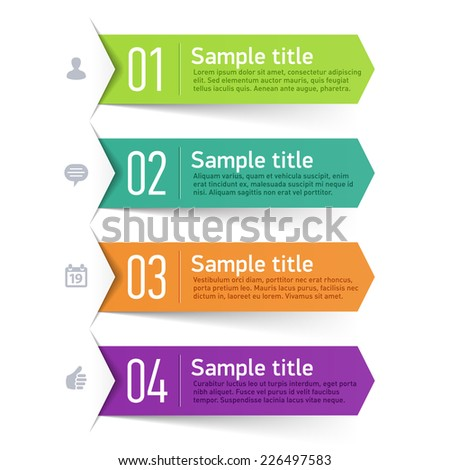Text box, infographic element. Vector. - stock vector