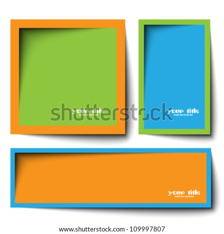 text box vector design - stock vector