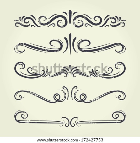 Text divider, grunge element can be separated easily  - stock vector