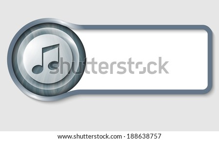 text frame for any text and transparent music icon - stock vector