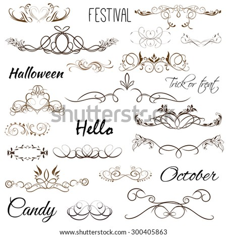 text halloween day - stock vector