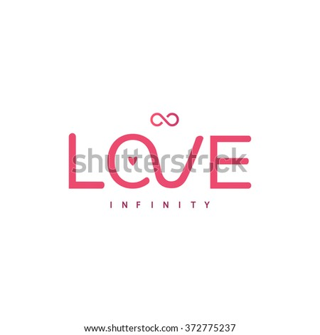 Text love for your design. Vector illustration - stock vector