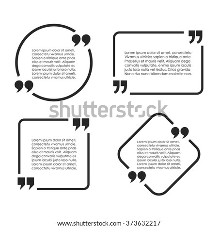 Text quote frame vector illustration on white background - stock vector