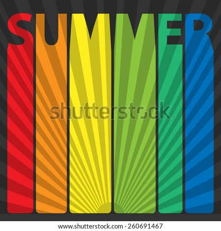 Text summer - stock vector