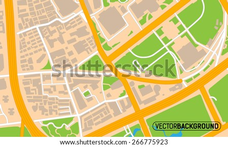 texture city map - stock vector