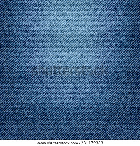 Texture of blue jeans textile, vector version - stock vector