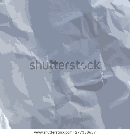 texture of crumpled paper vector - stock vector