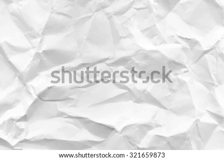 Texture of crumpled paper. Vector illustration. - stock vector