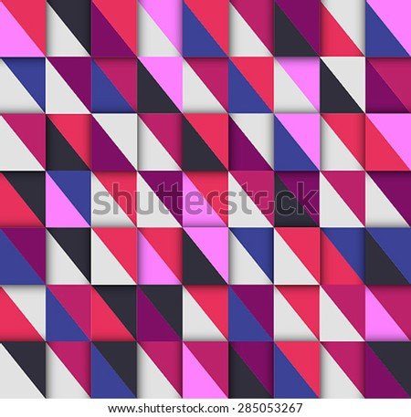 Texture of triangles. Vector illustration. - stock vector