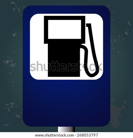 Textured background with an isolated traffic signal. Vector illustration - stock vector