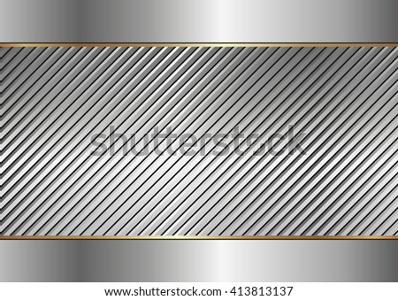 textured metal background - stock vector
