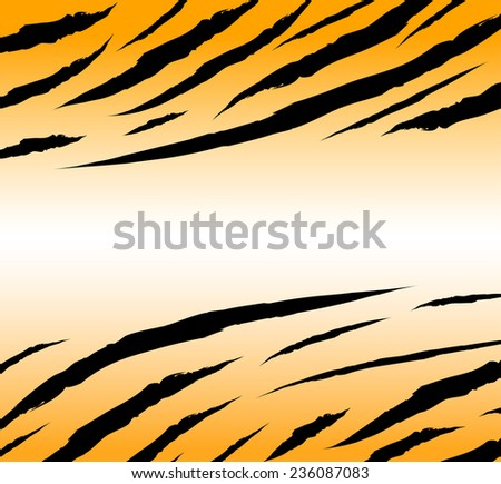 textured of bengal tiger fur background illustration - stock vector