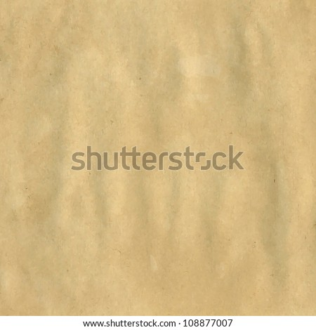 Textured Paper With Natural Fiber Parts, Vector Illustration - stock vector
