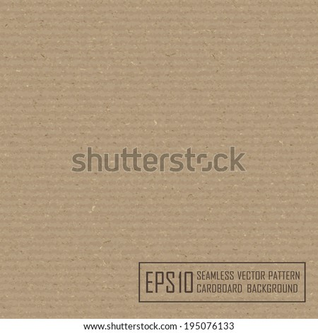 Textured recycled cardboard with natural fiber parts - stock vector