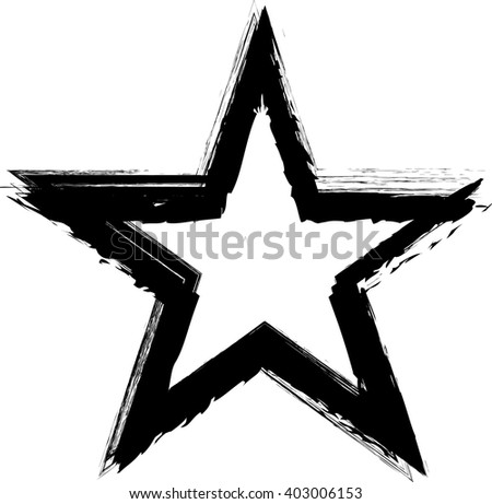 Textured Star used for stamps, banners. Icon. - stock vector