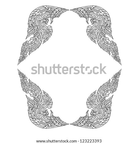Thai basic ornament hand drawing vector can be apply for tattoo ,pattern or background - stock vector