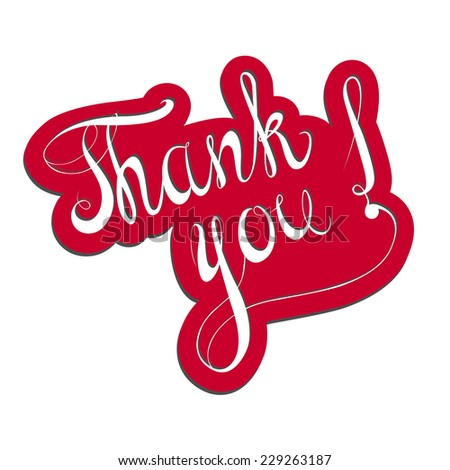 THANK YOU! - stock vector