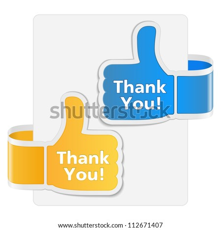 Thank you badges, vector eps10 illustration - stock vector