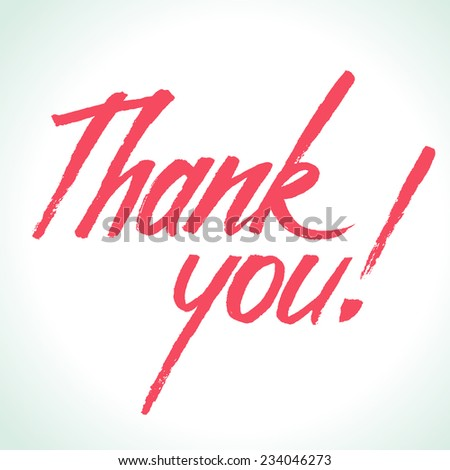 Thank You calligraphy. Hand lettering vector illustration. - stock vector
