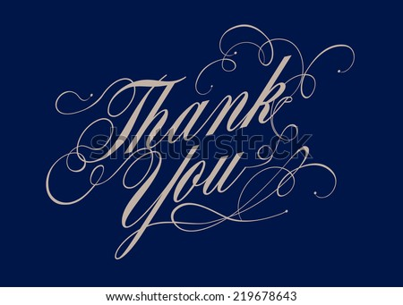 thank you calligraphy vector/illustration - stock vector